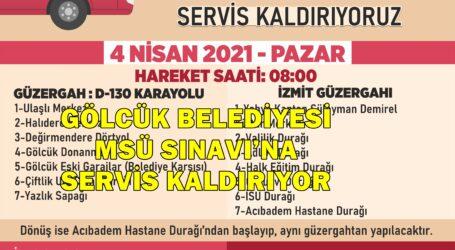 GÖLCÜK BELEDİYESİ MSÜ SINAVI'NA SERVİS KALDIRIYOR