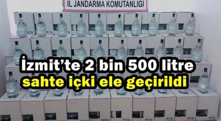 İzmit'te 2 bin 500 litre sahte içki ele geçirildi