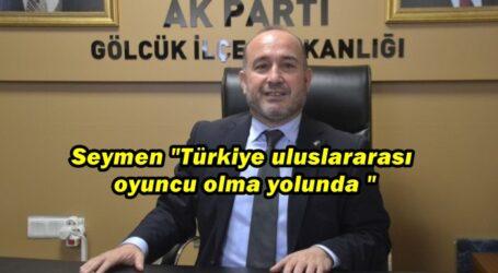 """Seymen """"Türkiye uluslararası oyuncu olma yolunda"""""""