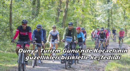 Dünya Turizm Günü'nde Kocaeli'nin güzellikleri bisikletle keşfedildi