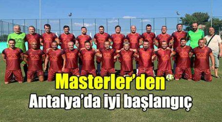 Masterler'den Antalya'da iyi başlangıç